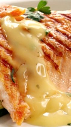 Grilled Salmon with Lemon and Herb Butter Sauce Grilled Salmon with Lemon and Herb Butter Sauce Salmon Dishes, Fish Dishes, Seafood Dishes, Fish And Seafood, Fancy Dishes, Best Seafood Recipes, Salmon Recipes, Fish Recipes, Drink Recipes