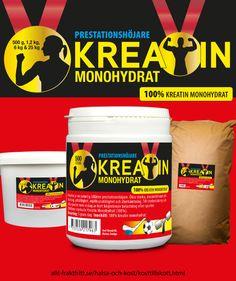 Kreatin monohydrat. Ofarligt, lagligt, billigt kosttillskott för snabbare muskelstyka. Ökar prestationsförmågan vid alla sporter med upprepade repititioner - som styrketräning. Ej doping, ej förbjudet och helt ofarligt - det finns i vanlig mat.