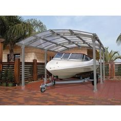 Palram Arcadia 5000 12 ft. x 16 ft. Carport with Polycarbonate Roof-701592 - The Home Depot