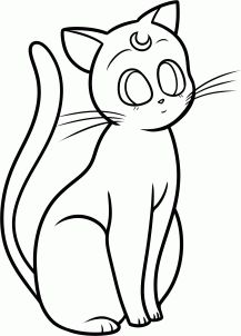 how to draw artemis from sailor moon step 9