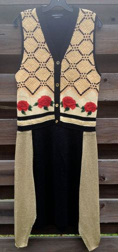 Upcycled vintage OOAK sweater vest dress by adelightdesign on Etsy, $35.00