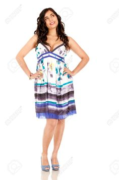 Beautiful Thoughtful Girl Summer Dress
