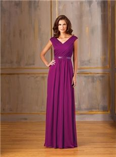 131.19 dresssea.com SUPPLIES Charming V-Neck Floor-Length Sleeveless Mother Of The Bride Dress
