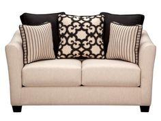 Gretchen Cream Loveseat - American Signature Furniture