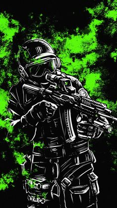 Special Force Soldier - iPhone Wallpapers