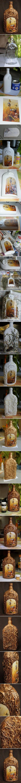 {Garrafa de vidro decorativa DIY}: