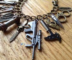 Zombie Apocalypse Charm Bracelet ZA364 by NormanJewelry on Etsy