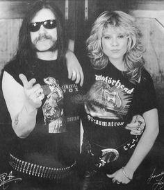 Lemmy Kilmister and Samantha Fox #Motorhead #Lemmy #Kilmister #Girls
