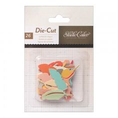 "Die cuts ""Plumes"" That away Studio Calico 26/pqt"