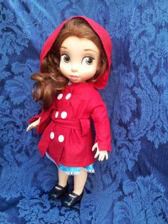 """Disney Animator's Collection 16"""" Doll - Hooded Trench Coat by WiggleAndRoo, on Etsy - Also Available in American Girl size"""