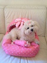 pink puppy beds | Pink Luxury Dog Bed House New Chihuahua Puppy Yorkie Bichon Westie Pug