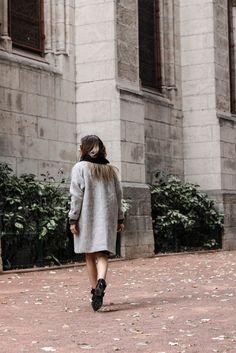 Manteau oversize gris / Octobre 2016 / www.marieandmood.com
