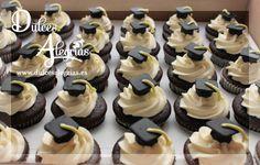 Cupcakes de graduación