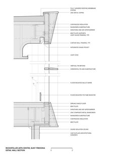 Image 30 of 30 from gallery of Rockefeller Arts Center at the State University of New York at Fredonia / Deborah Berke Partners. Architecture Office, Architecture Details, Drawing Architecture, Section Drawing, Working Drawing, Detailed Drawings, Technical Drawing, Frames On Wall, State University