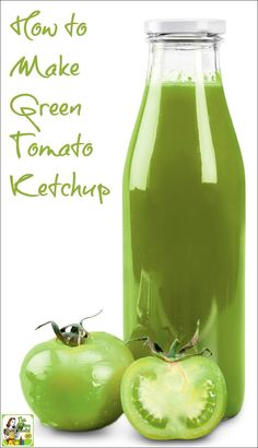 Have an overabundance of tomatoes in your garden? Even if you've never canned tomatoes before, it's easy to do! Click to learn how to make Green Tomato Ketchup.