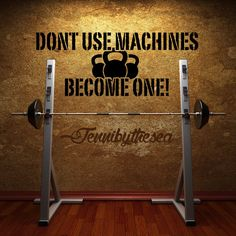 Dont use Machines Gym wall decal art by jennibythesea on Etsy https://www.etsy.com/listing/194851048/dont-use-machines-gym-wall-decal-art