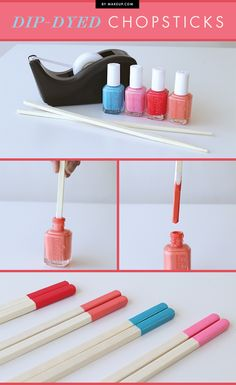 We love our nail polish, and we love easy DIY projects. So we decided to try our hand at a few crafts that fit right in our wheelhouse: Nail polish crafts. Check out how to use your favorite nail polish colors for crafts! Diy And Crafts Sewing, Crafts To Sell, Fun Crafts, Arts And Crafts, Rock Crafts, Creative Crafts, Diy Nagellack, Glue Gun Crafts, Diy Glue