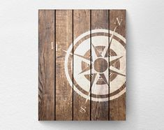 Nautical Compass, Compass Print, Nautical Decor, Rustic Nautical Print, Beach…