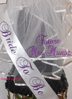 Bachelorette Veil Set Sash And Personalized Bridal Monogrammed By Sashanation