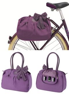 Handbag that converts into a bike pannier bag! #product_design