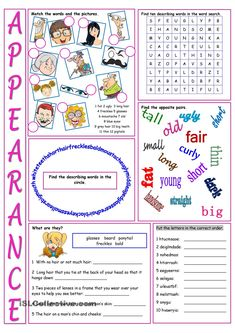 Appearance Vocabulary Exercises