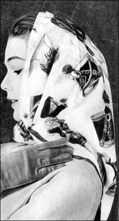 the 1950s-fashion accessories-scarf and gloves