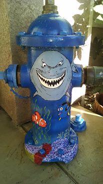 Street Mural, 3d Street Art, Fire Hydrants, Heavy Metal Art, We Will Rock You, Fire Art, Finding Nemo, Land Art, Custom Buttons