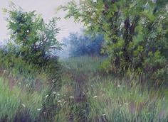 "Walking Path #2 by Kathy McDonnell Pastel ~ 11"" x 15"""