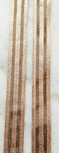 FREE SHIPPING Indian copper brown metallic ribbon by uniqueindia