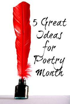5 Great Ideas for Poetry Month #weareteachers