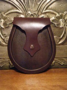 Handmade Brown Leather Moo/Baa/Crazy Sporran by HerdofSporrans, £85.00
