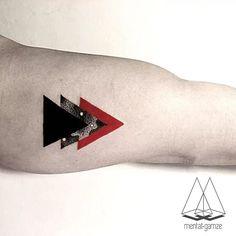 Mentat Gamze Splashes Red To Exquisite Geometric Fine Line Tattoos ...
