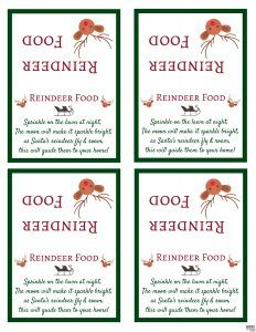 How to make reindeer food kids love this super simple and magical santas magic reindeer food recipe and free printable reindeer food poem bag topper make this forumfinder