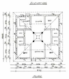 courtyard house - plan | architecture | pinterest | courtyard