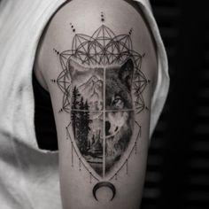 Wolf Transition Tattoo by Balazs Bercsenyi - TATTOOBLEND