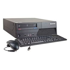Lenovo - Refurbished ThinkCentre Desktop - Intel Core2 Duo - 3GB Memory - 750GB Hard Drive - Black - Larger Front