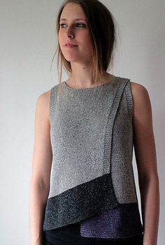 Ravelry: Maja - Kiito pattern by Marita Rolin - cool knitted or croquet cardigan top without buttons or ties - very clever and elegantly simple Ravelry, Diy Mode, Summer Sweaters, Knit Vest, Knit Fashion, Fashion Wear, Pulls, Ideias Fashion, Knitwear