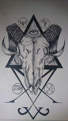 Ram Skull Design