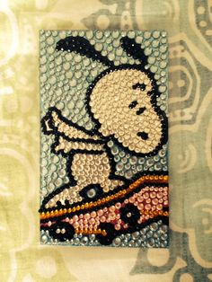 Snoopy skateboard case - Isn't this adorable? You gotta have it.:)