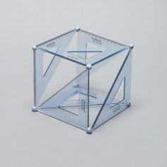 Cubo, Esquadro, Azul, Daniel Eatock, Arte, Instalação