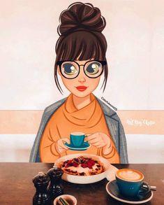 Girly Drawings, Disney Drawings, Bff Abbildungen, Pretty Art, Cute Art, Gothic Fantasy Art, Cute Girl Drawing, Cartoon Art Styles, Digital Art Girl