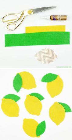 DIY Felt Lemons | Vi