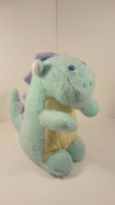 Vintage 1986 Avon Puff the Magic Dragon Powder Dispenser Plush Rare HTF