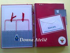 Donna Scrap Atelie: Livro de Receita em Scrapbook.