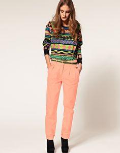 neon aztec jumper