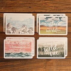 Scenic Postcard set by 1canoe2 on Etsy  Make trees from quotes. Simplify a forest full of adventure and tree houses into shapes of words.