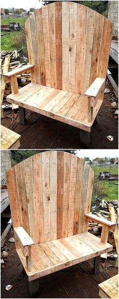 Now the idea for outdoor bench for a couple is shown here, the back is created with the unusual design and it is not small as the other chair designs. The bench is great to be placed inside as well as outside the home to enjoy with the loved one.