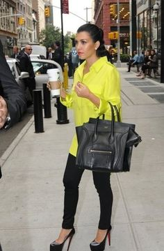 Love the pop of color. And Starbucks of course.