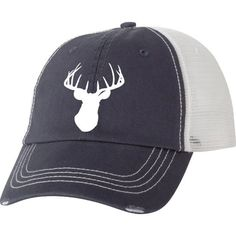 Country Girl® White Deer Head Trucker Hat - Country Fashion Clothing