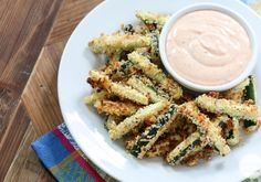 These look so good! Baked Zucchini Fries | Inspired by Charm #zucchinifries #zucchini @Michael Wurm, Jr. {inspiredbycharm.com}